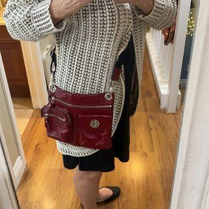 Boutique Leather Crossbody RED with Pockets NICE